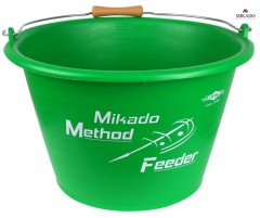 VĚDRO MIKADO METHOD FEEDER 17L (GREEN) UABW-17