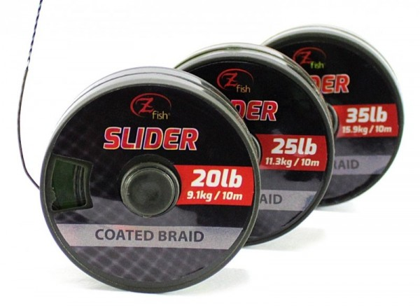ZFISH Zfish Šňůrka Slider Coated Braid 10m 25lb/11,33kg
